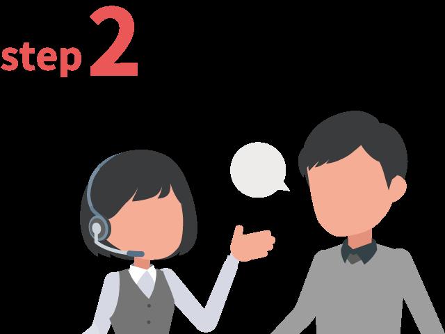 ご登録からお仕事までの流れ ステップ2 拘りの条件、すべてご相談